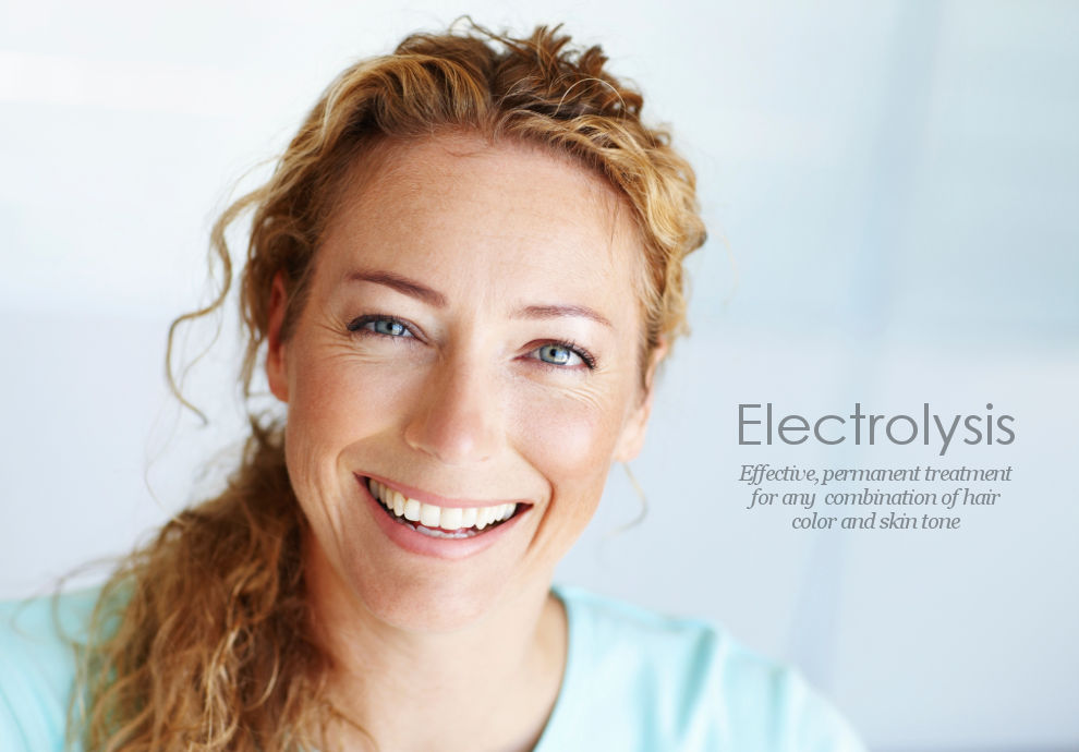 Electrolysis is effective permanent hair removal for any combination of hair color or skin tone